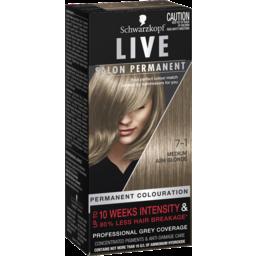 Photo of Schwarzkopf Live Salon Permanent 7-1 Medium Ash Blonde