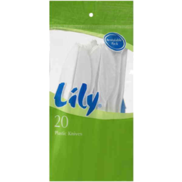 Photo of Lily Plastic Knives 20pk