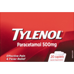 Photo of Tylenol Paracetamol Tablets 500mg 20 Pack