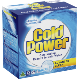 Photo of Cold Power Regular Advanced Clean, Powder Laundry Detergent, 2kg