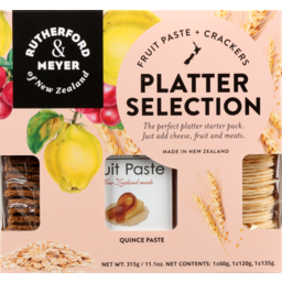 Photo of Rutherford & Meyer Platter Selection Natural Wafer Quince Paste Oat & Cranberry 315g