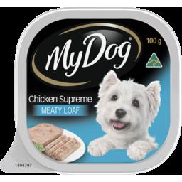 Photo of My Dog Adult Wet Dog Food Chicken Supreme Meaty Loaf 100g