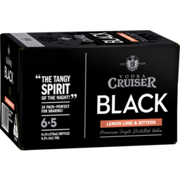 Photo of Vodka Cruiser Black Lemon Lime & Bitters Stubbies