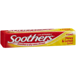 Photo of Soothers Honey & Lemon Flavour 10 Lozenges