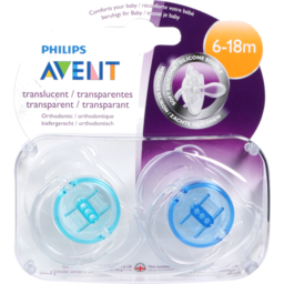 Photo of Philips Avent Silicone Soother Translucent Bpa Free 6months+ 2 Pk