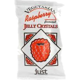 Photo of Just Wholefoods - Jelly - Vegan Crystals - Raspberry - 85g
