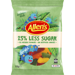 Photo of Allen's 25% Less Sugar Grubs 170g