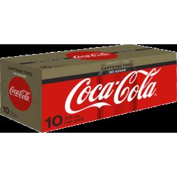 Photo of Coca-Cola Coca Cola Caffeine Free No Sugar Can 10x375ml