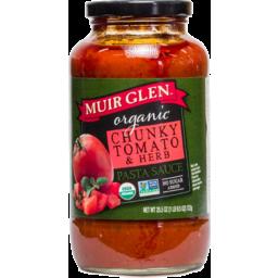 Photo of Muir Glen Pasta Sauce - Chunky Tomato & Herb