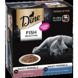 Photo of Dine Mixed Fish Selection 7 x 85g Salmon 7 x 85g Tuna Mornay & Cheese