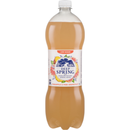 Photo of Deep Spring With Sparkling Natural Mineral Water Pineapple & Pink Grapefruit 1.25l