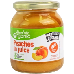 Photo of Absolute Organic Peaches In Juice 350gm