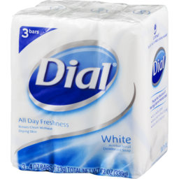 Photo of Dial All Day Freshness White Antibacterial Deodorant Soap - 3 Ct