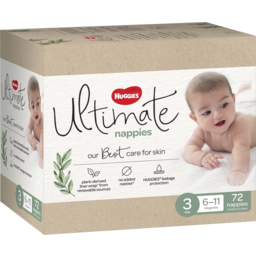 Photo of Huggies Ultimate Nappies, Unisex, Size 3  6-11kg 72 Pack