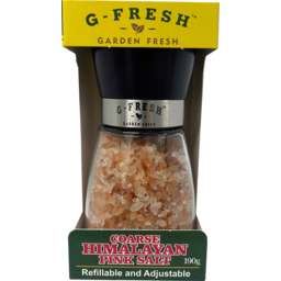 Photo of G Fresh Coarse Himalayan Pink Salt Grinder Refillable & Adjustable 190g