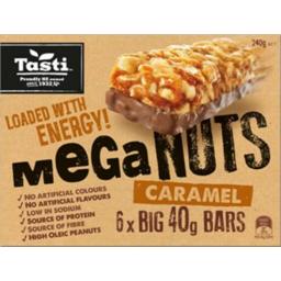 Photo of Tasti Mega Nuts Bars Caramel 6 Pack