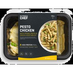 Photo of My Muscle Chef Pesto Chicken W P/Pasta & G/Veg 330gm