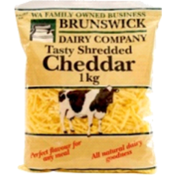 Photo of Brunswick Dairy Co Cheese Cheddar Tasty Shredded (1kg)