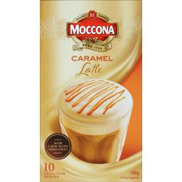 Photo of Moccona Coffee Sachets Caramel Latte 140g