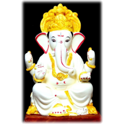 """Photo of 18"""" ECO PAINTED GANESH IDOL OF CLAY - 011"""
