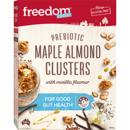 Photo of Freedom Foods Maple Almond With Vanilla Flavour Prebiotic Clusters 360g