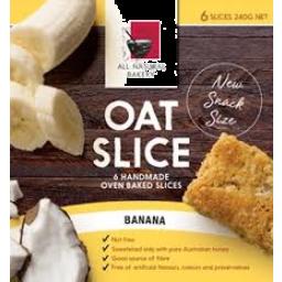 Photo of All Natural Bakery Oat Slice Banana 6 Pack 240g