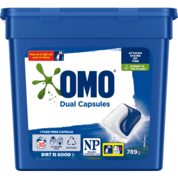 Photo of Omo Dual Laundry Liquid Capsules Tub 30 Pack 789g