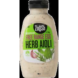 Photo of Zoosh Free Range Egg Herb Aioli 350g