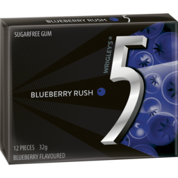 Photo of Wrigley's 5 Gum Blueberry Rush 12 Pieces 32g