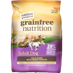 Photo of VIP Natures Goodness Dog Food Dry Grain Free Nutrition Wild Game with Sweet Potato 3kg