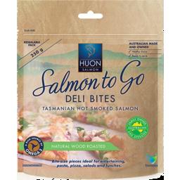 Photo of Huon Salmon To Go Deli Bites Natural Wood Roasted Salmon 250g