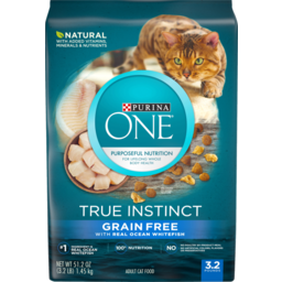 Photo of Purina One True Instinct Natural Grain Free Pet Food With Real Ocean White Fish 1.45kg