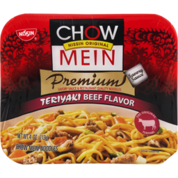Photo of Nissin Chow Mein Premium Teriyaki Beef Chow Mein Noodles