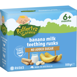 Photo of Raffertys Garden Banana Milk Teething Rusks 100g