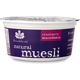 Photo of Brookfarm Macadamia Muesli with Cranberries Tub 75gm