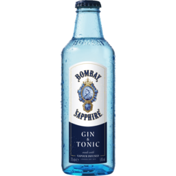 Photo of Bombay Gin Sapphire & Tonic Bottles