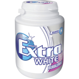 Photo of Extra White Bubblemint Chewing Gum Bottle 64gm