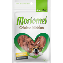 Photo of Vitapet Morsomes Dog Treats Chicken Nibbles 100g