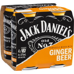 Photo of Jack Daniel's Tennessee Whiskey & Ginger Beer Cans