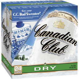 Photo of Canadian Club Whisky & Dry Can Cube