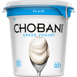 Photo of Chobani Plain Less Than 0.5% Fat Greek Yogurt 907g