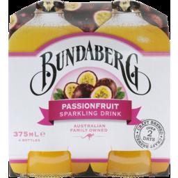 Photo of Bundaberg Passionfruit Brewed Soft Drink 4x375ml