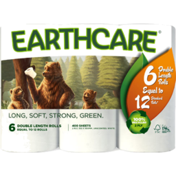 Photo of Earthcare Toilet Paper Double Length White 6 Pack