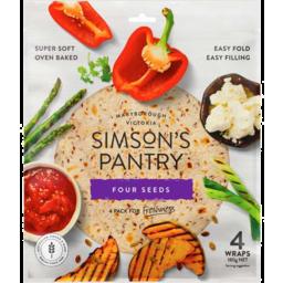 Photo of Simson's Pantry Wraps Four Seeds 180gm
