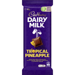 Photo of Cadbury Dairy Milk Tropical Pineapple Milk Chocolate Block 180g