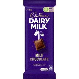 Photo of Cadbury Dairy Milk Chocolate Classic Milk Chocolate Block 180g