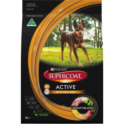 Photo of Purina Supercoat Active With Real Beef Dry Dog Food 3kg