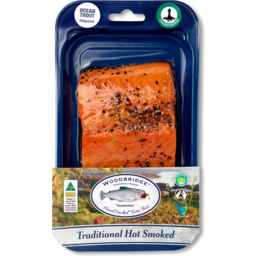 Photo of Hot Smoked Ocean Trout Portions - Pepper Sprinkle 150g