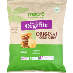 Photo of Macro Organic Corn Chips Natural 200g