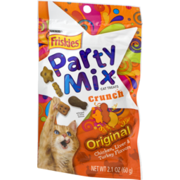 Photo of Purina Friskies Party Mix Cat Treats Original Chicken, Liver & Turkey Flavors